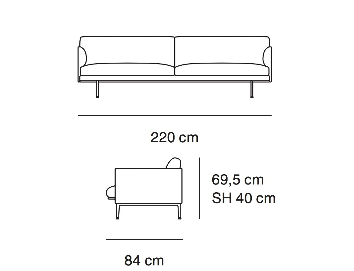 Muuto Outline Three Seater Sofa Funktion Alley