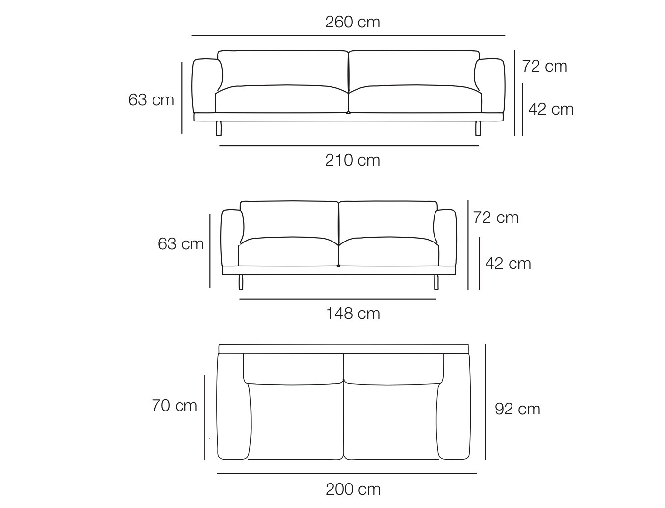 Enchanting 30 Sofa Dimensions Design Ideas Of Loveseat