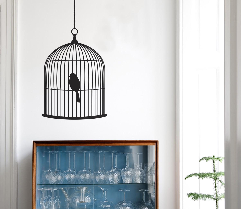 ferm living bird cage wall sticker