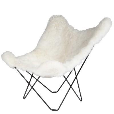 Cuero Design Sheepskin Butterfly Chair