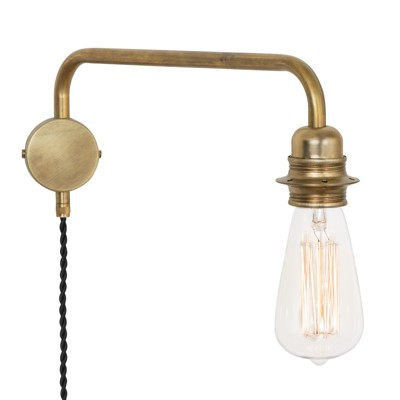 Konsthantverk Edison Down Wall Light
