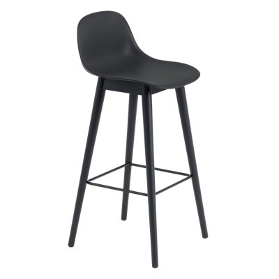 Muuto Fiber Bar Stool Wood Base