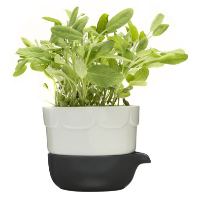 Sagaform Green double barrelled growing pot