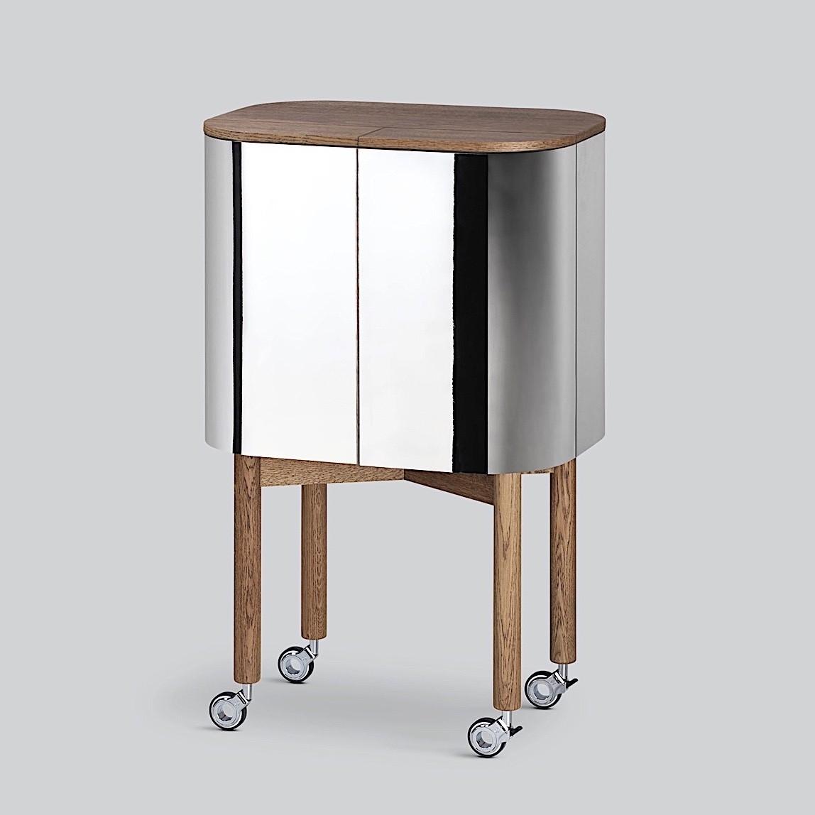 Northern Loud Drinks Cabinet-Smoked Oak