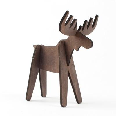 Design Ideas Alpine Moose 4pk