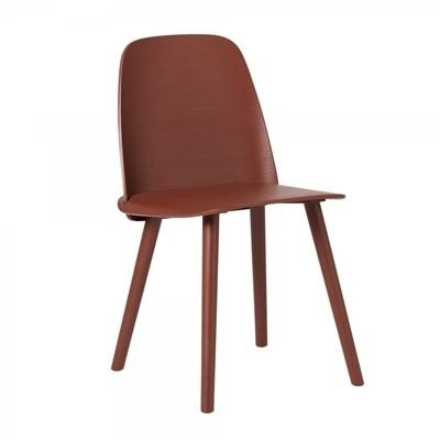 Muuto Nerd Chair-Dark Red