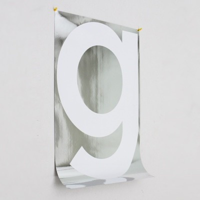 Playtype Grey Poster Chrome G