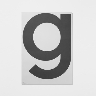 Playtype Grey Poster G