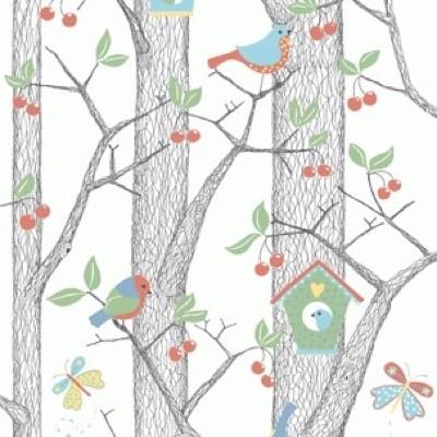 Boråstapeter Cherry Friends Wallpaper
