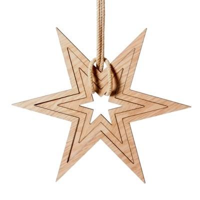 DYEHOUSE Neve Wooden Star Decoration - Set of 3