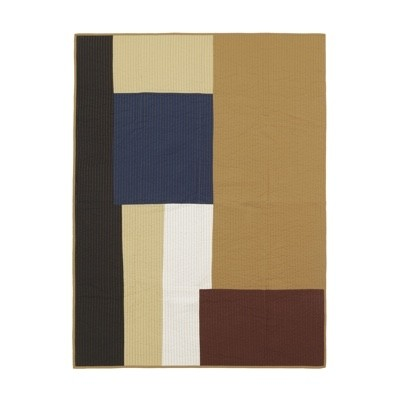 Ferm Living Shay Quilted Blanket - Mustard