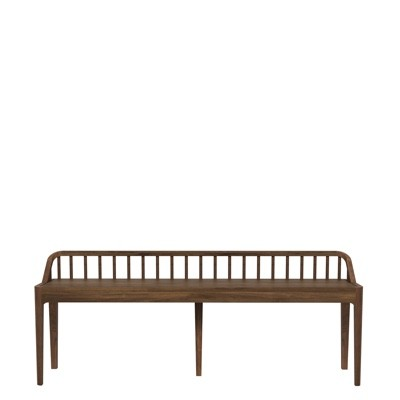 Ethnicraft Spindle Bench with backrest