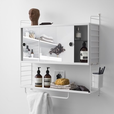 String Shelving Bathroom System
