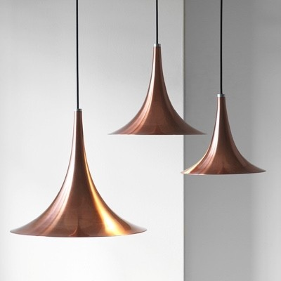 Darø Trion Rose Copper Pendant Light