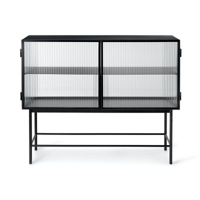 Ferm Living Haze Vitrine - Reeded Glass in Cashmere