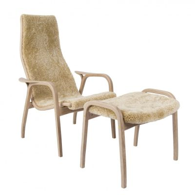 Swedese Lamino Easy Chair - Anniversary Edition with foot stool