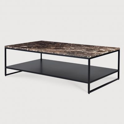 Ethnicraft Stone Coffee Table - Dark Emperador
