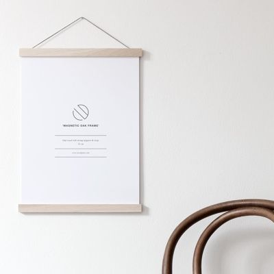 Coco Lapine Oak Poster Hanger