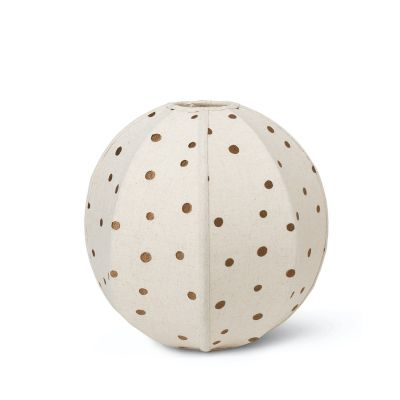 Dots Embroidered Textile Lampshade