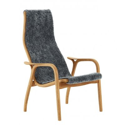Lamino Easy Chair In oak and grey