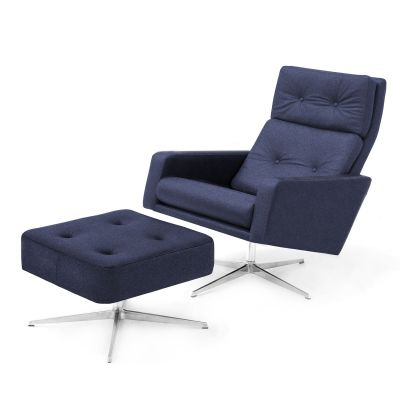 Loft Leo Easy Chair and Ottoman