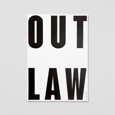 Playtype Out Law Poster