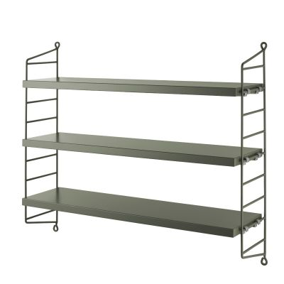 String Shelving Pocket shelf Sage Green