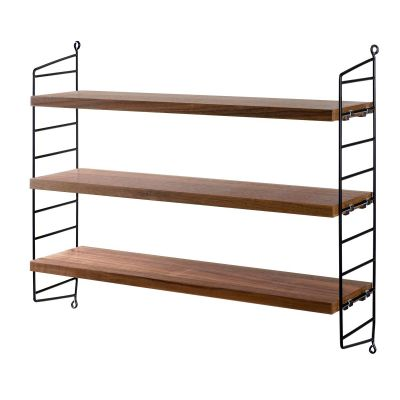String Pocket Shelf walnut and black