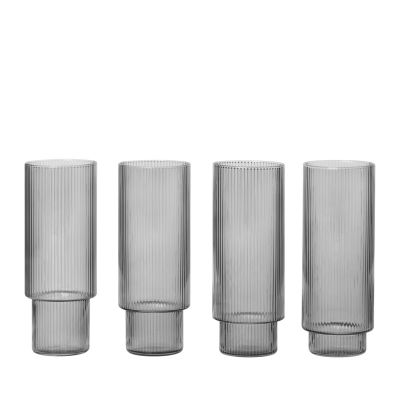 Ferm Living Ripple Long Glasses 4PK