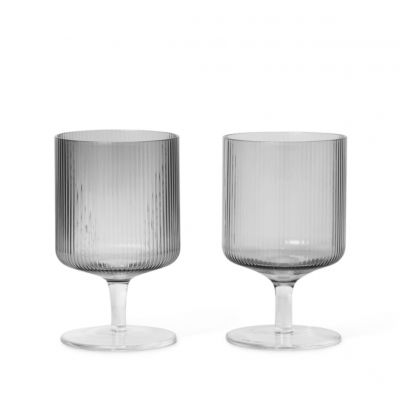 Ferm Living Ripple Wine Glass 2PK