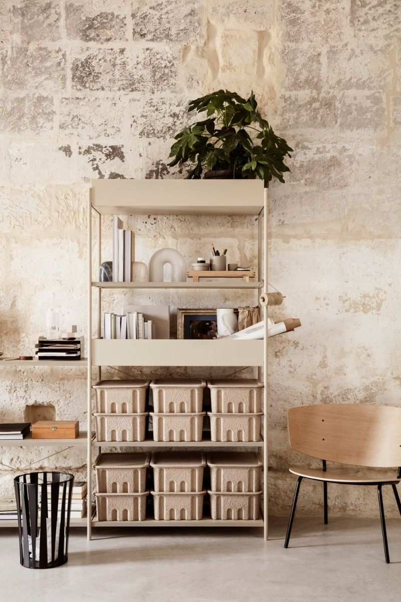 Booke shelf with the Ferm Living Vuelta Table Lamp