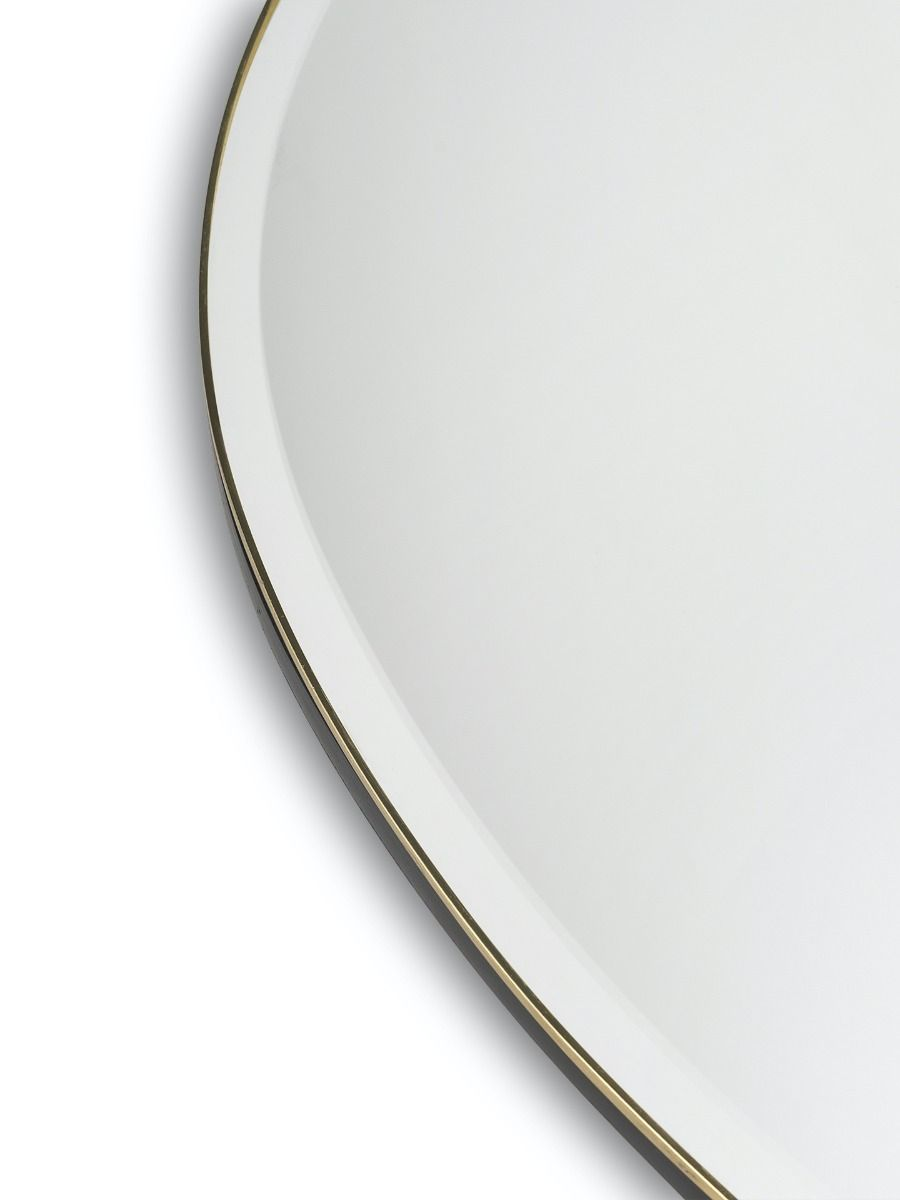 Detail of the Ferm Living Pond Mirror Extra Large