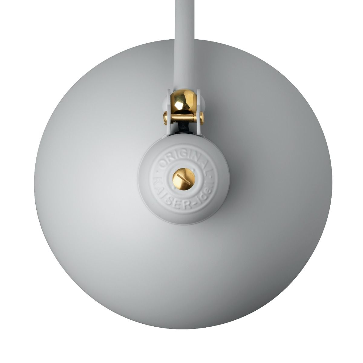 Kaiser Idell6631-T Luxus in brass, and easy grey top detail