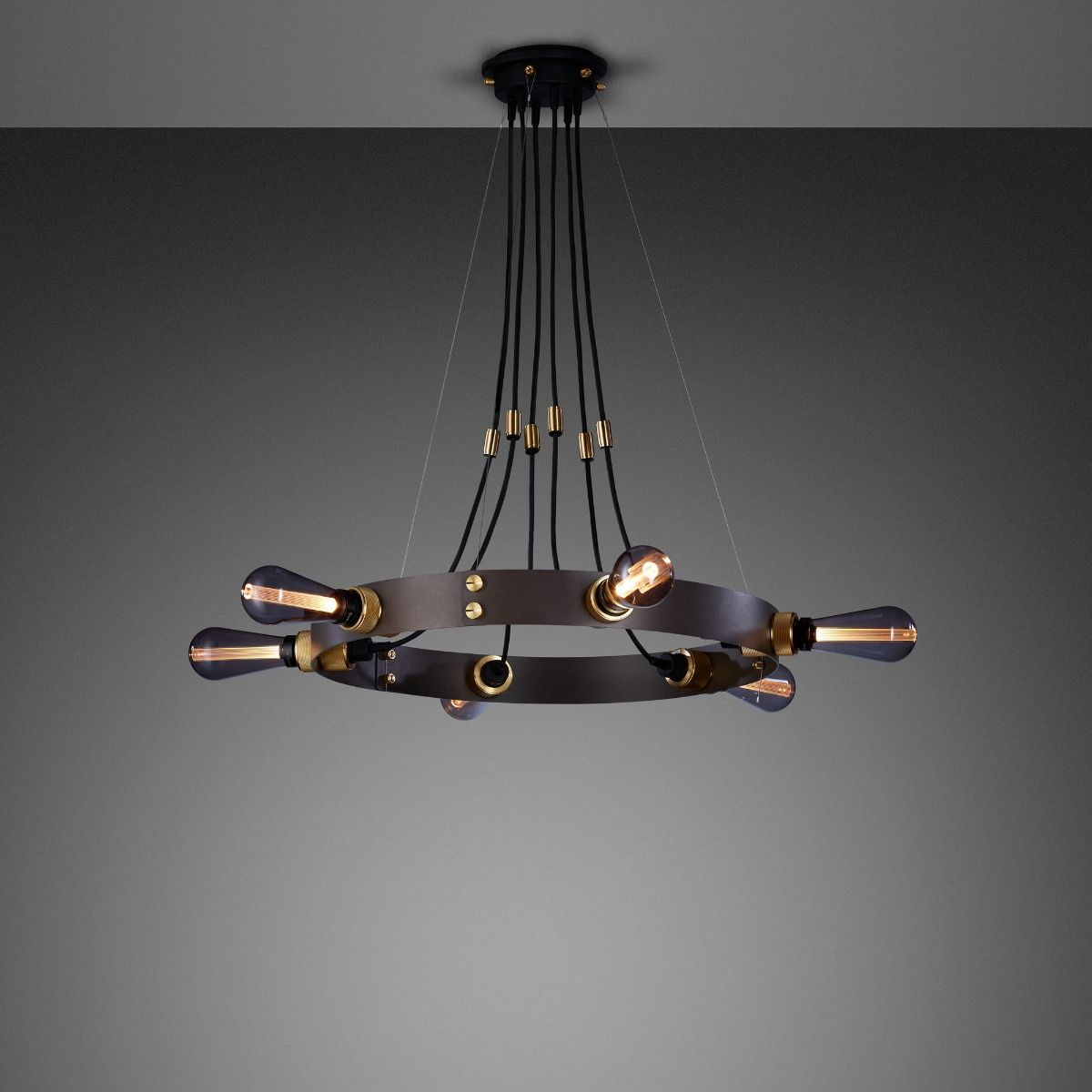 Buster + Punch Hero Pendant In Gaphite and Brass