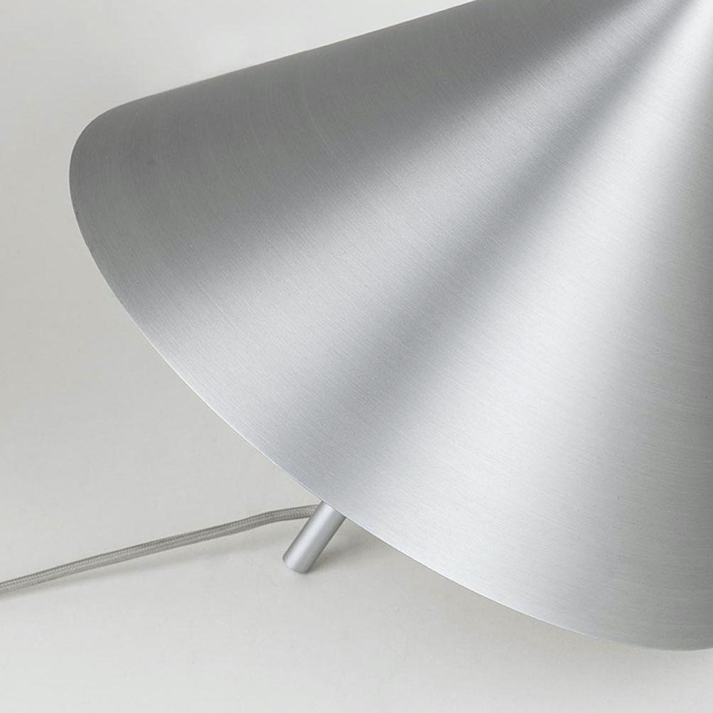 Kristina Dam Studio spinning top pendant. Image shows the Aluminium finish.