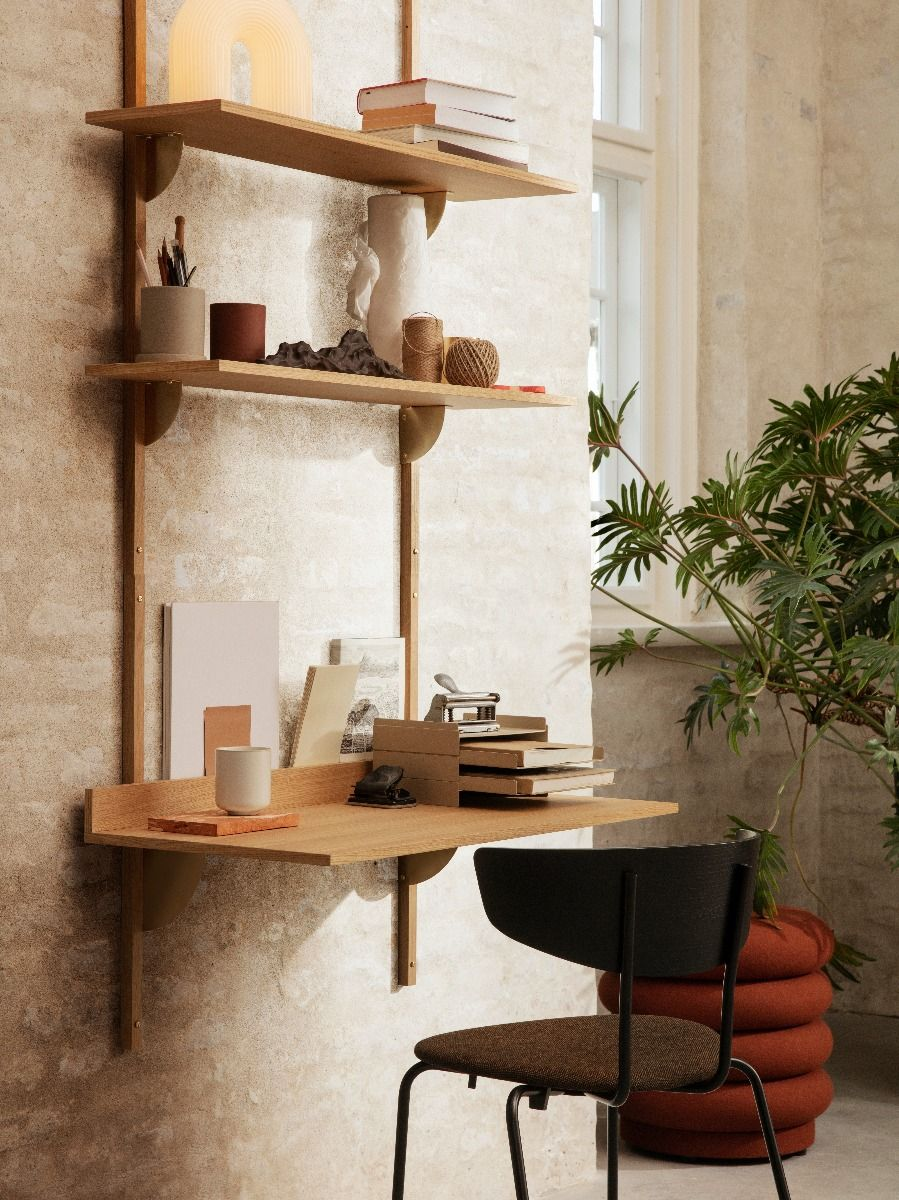 Ferm Living Sector Shelf - Triple - Wide when combined with a sector desk