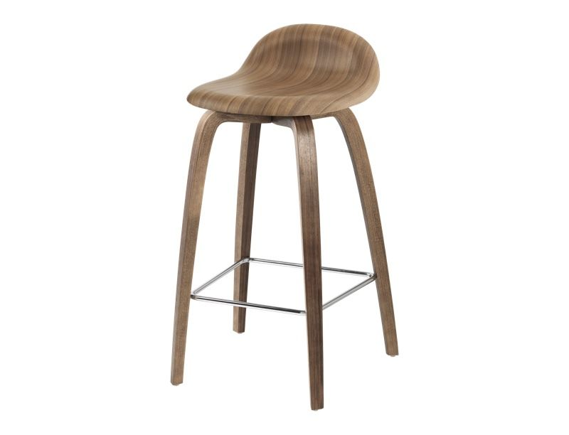 Gubi 3D Bar Stool Wood Base