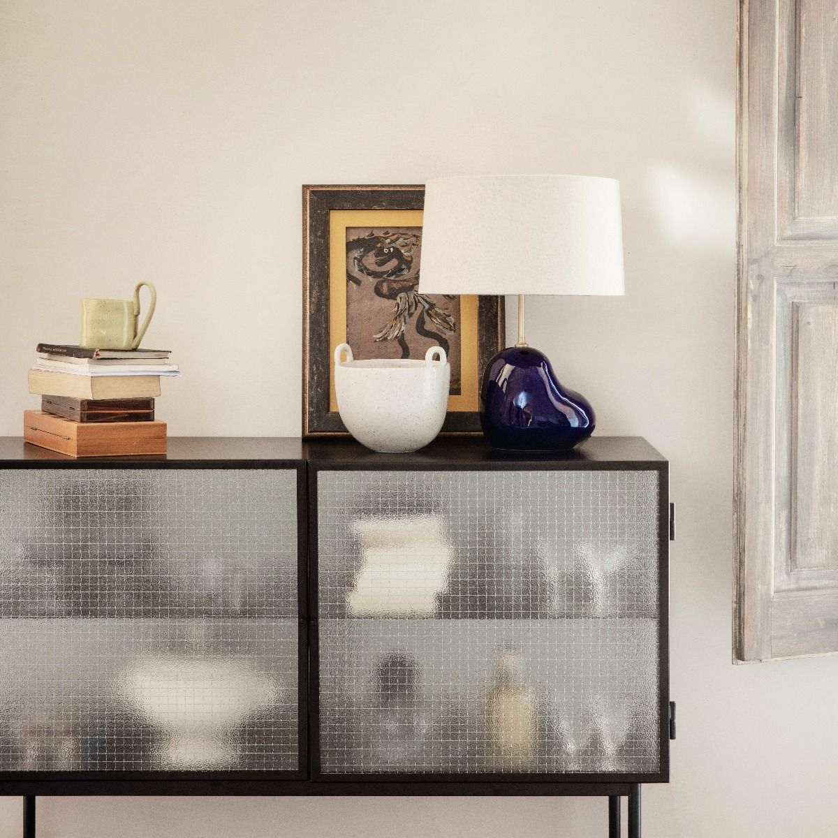 Ferm Living Haze Sideboard - Reeded Glass