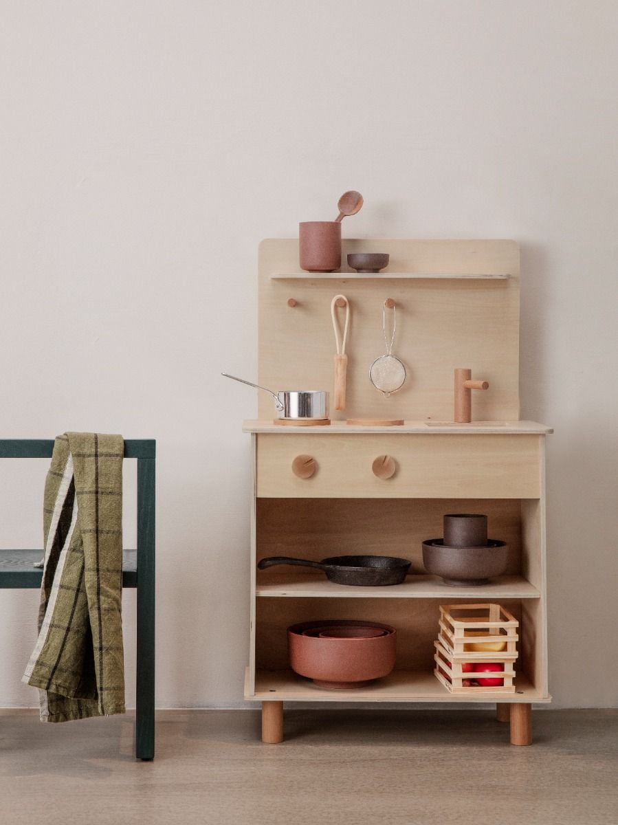 Ferm Living Toro Play Kitchen with kitchen utensils