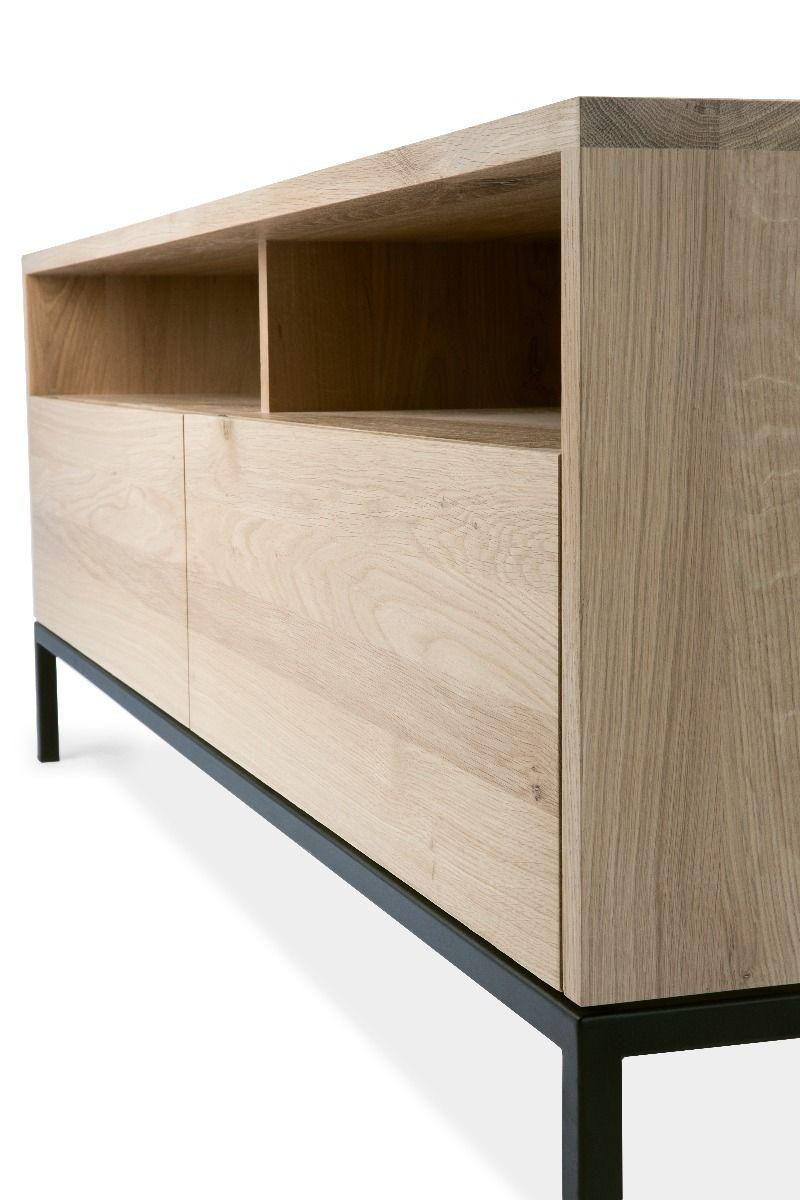 Ethnicraft Ligna TV Cupboard - Black side view