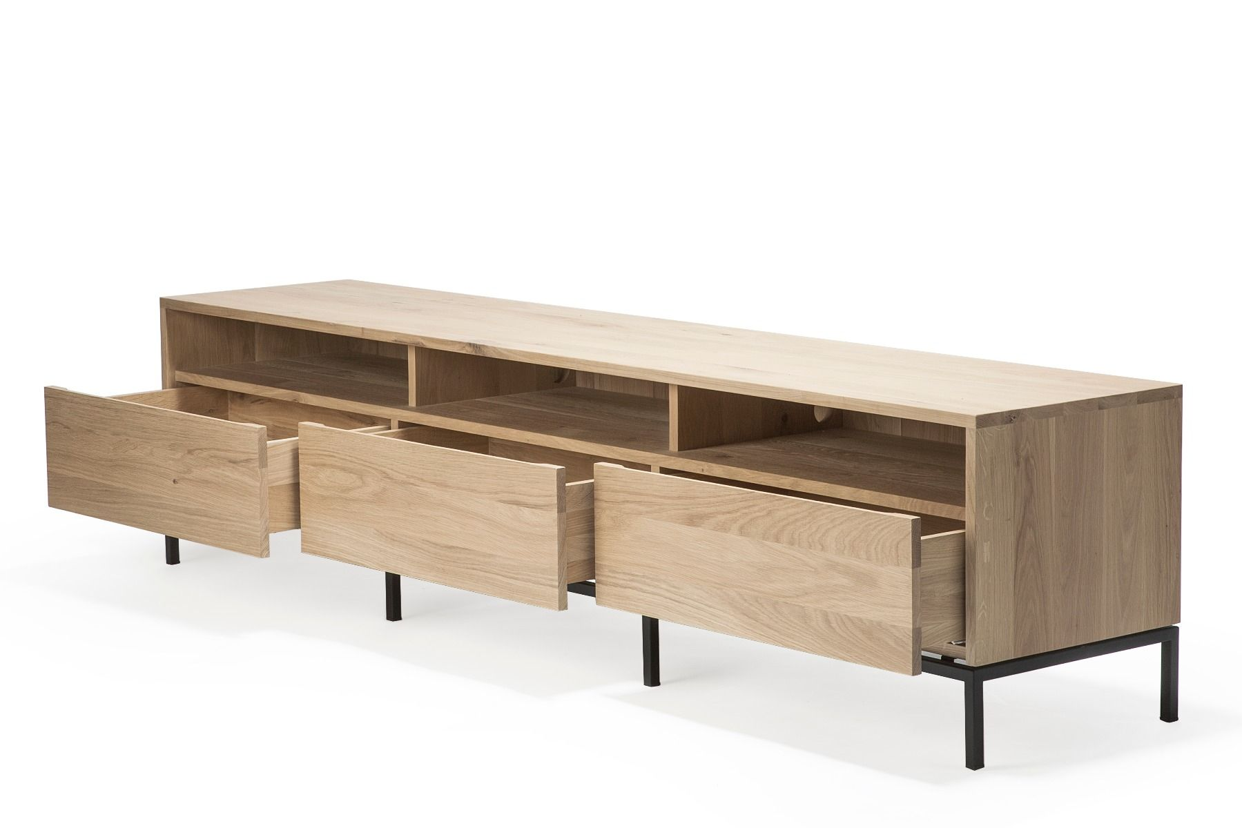 Ethnicraft Ligna TV Cupboard - Black three drawer