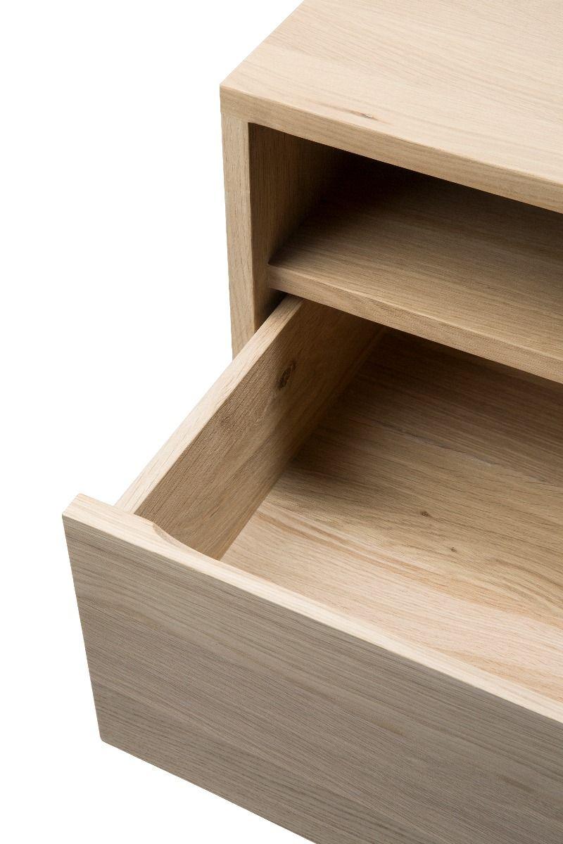 Ethnicraft Ligna TV Cupboard - Black detail of open drawer