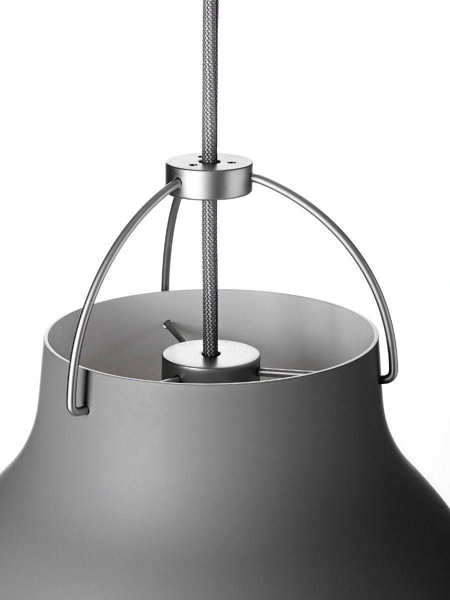 fritz hansen caravaggio pendant light matt grey suspension detail