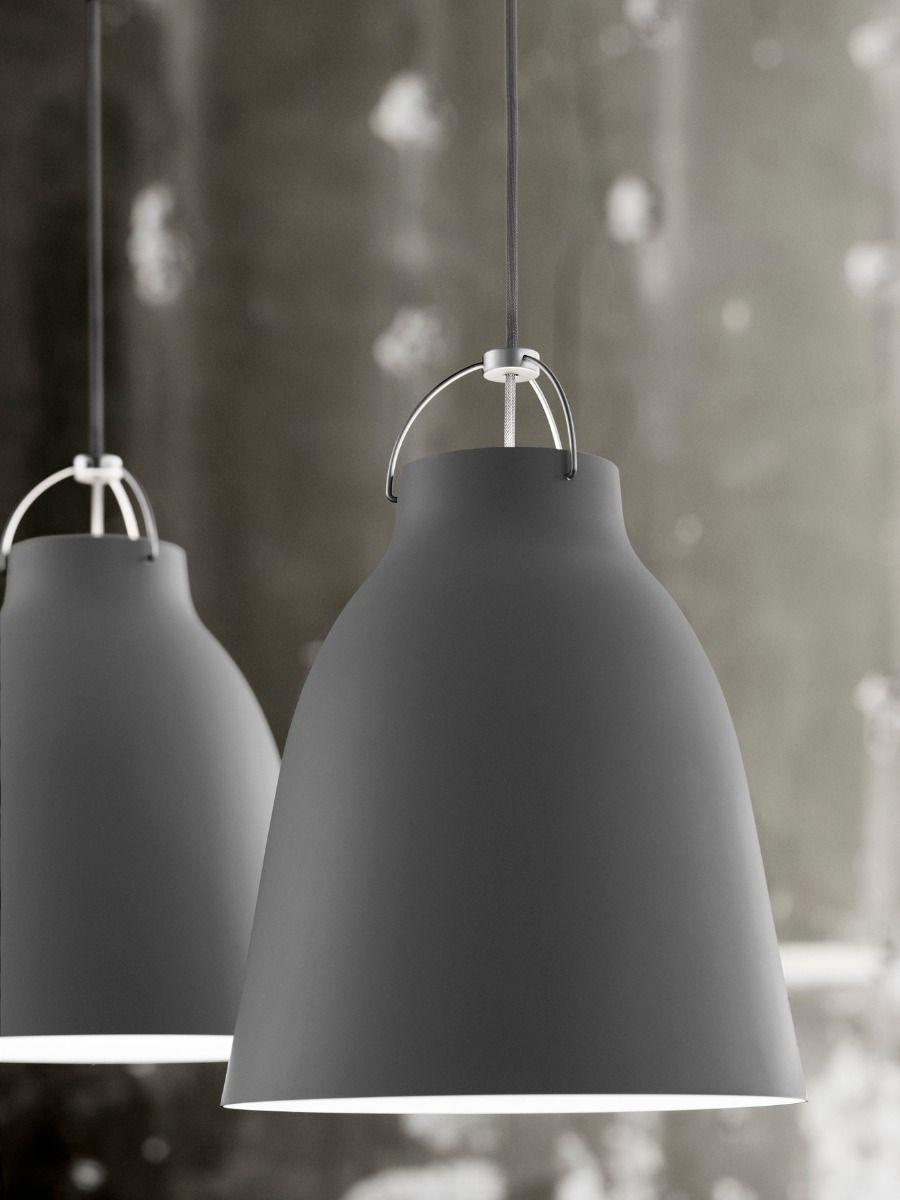 fritz hansen caravaggio pendant light matt dark grey