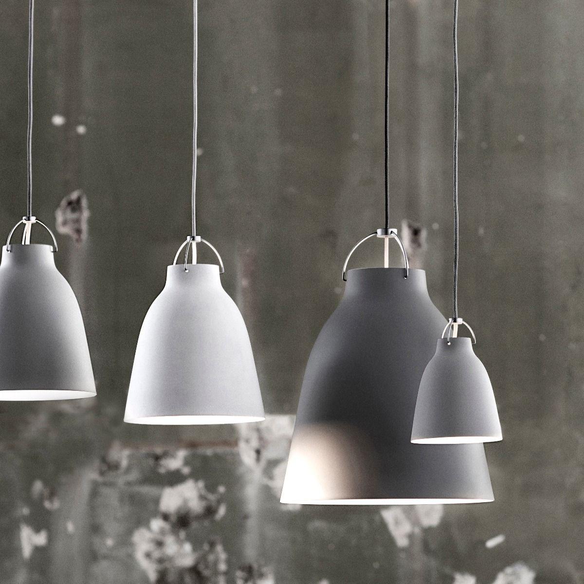 fritz hansen caravaggio pendant light matt  grey cluster