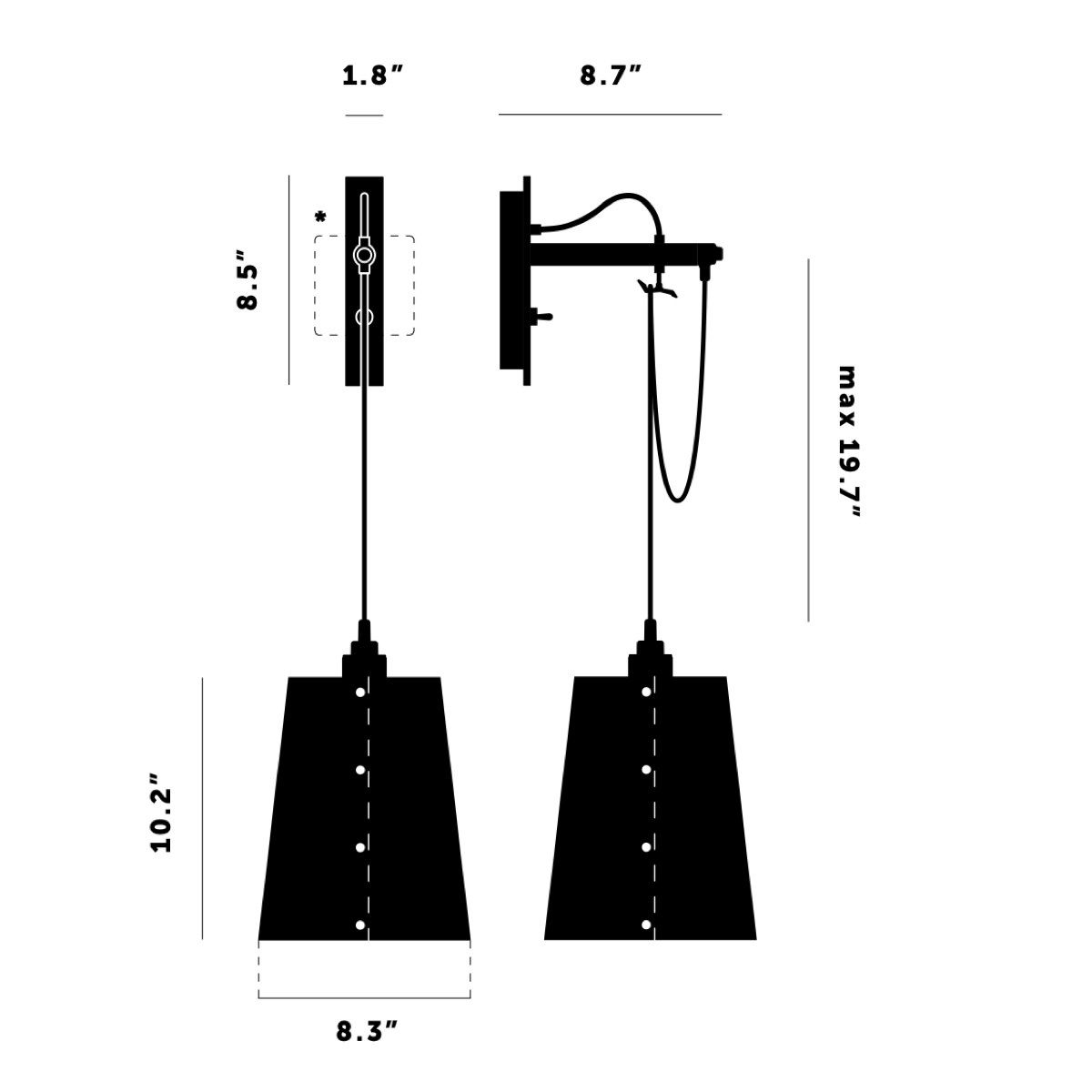 Buster + Punch Hooked Wall Light Large