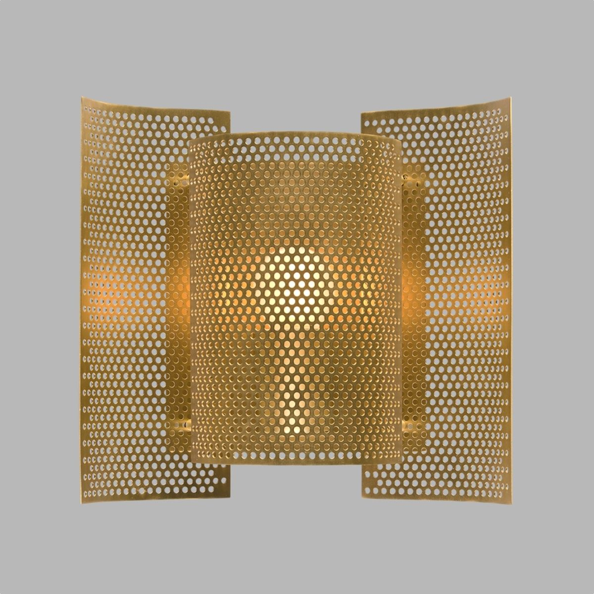 Northern Butterfly Wall Light - Perforated - Brass On