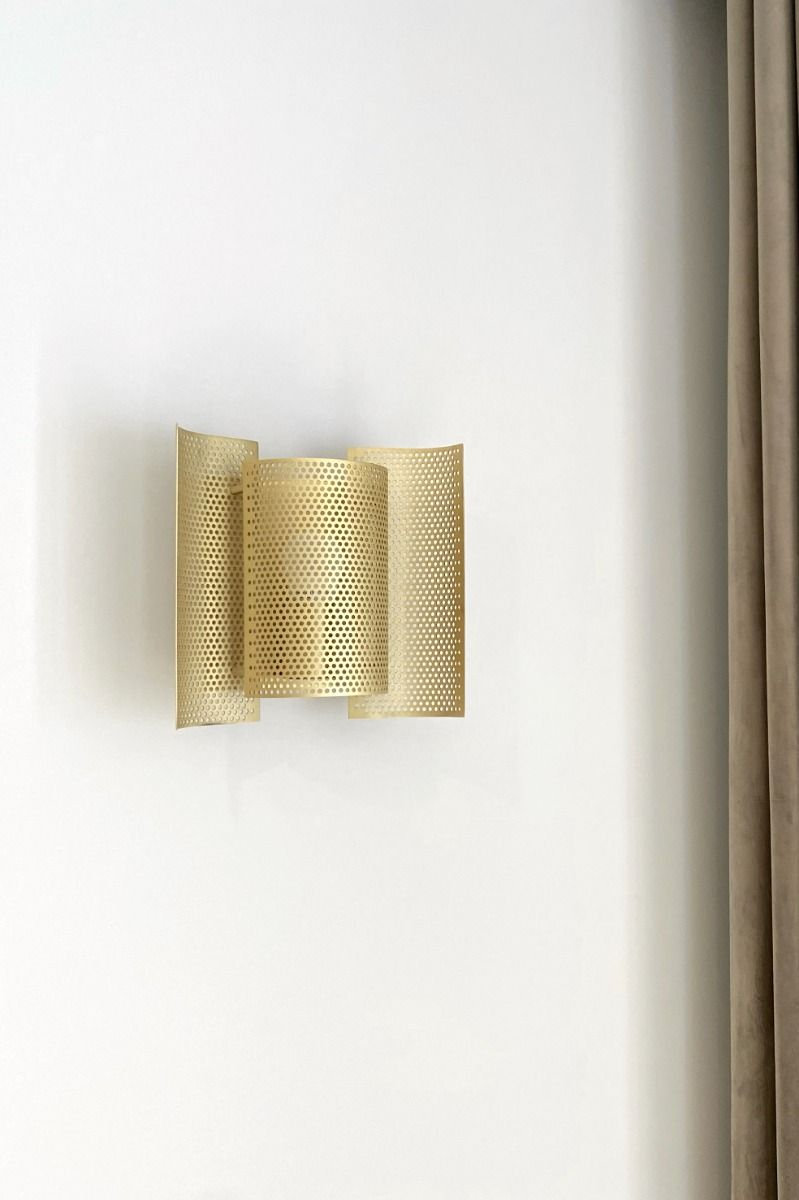 Northern Butterfly Wall Lights - Perforated - Brass - Off
