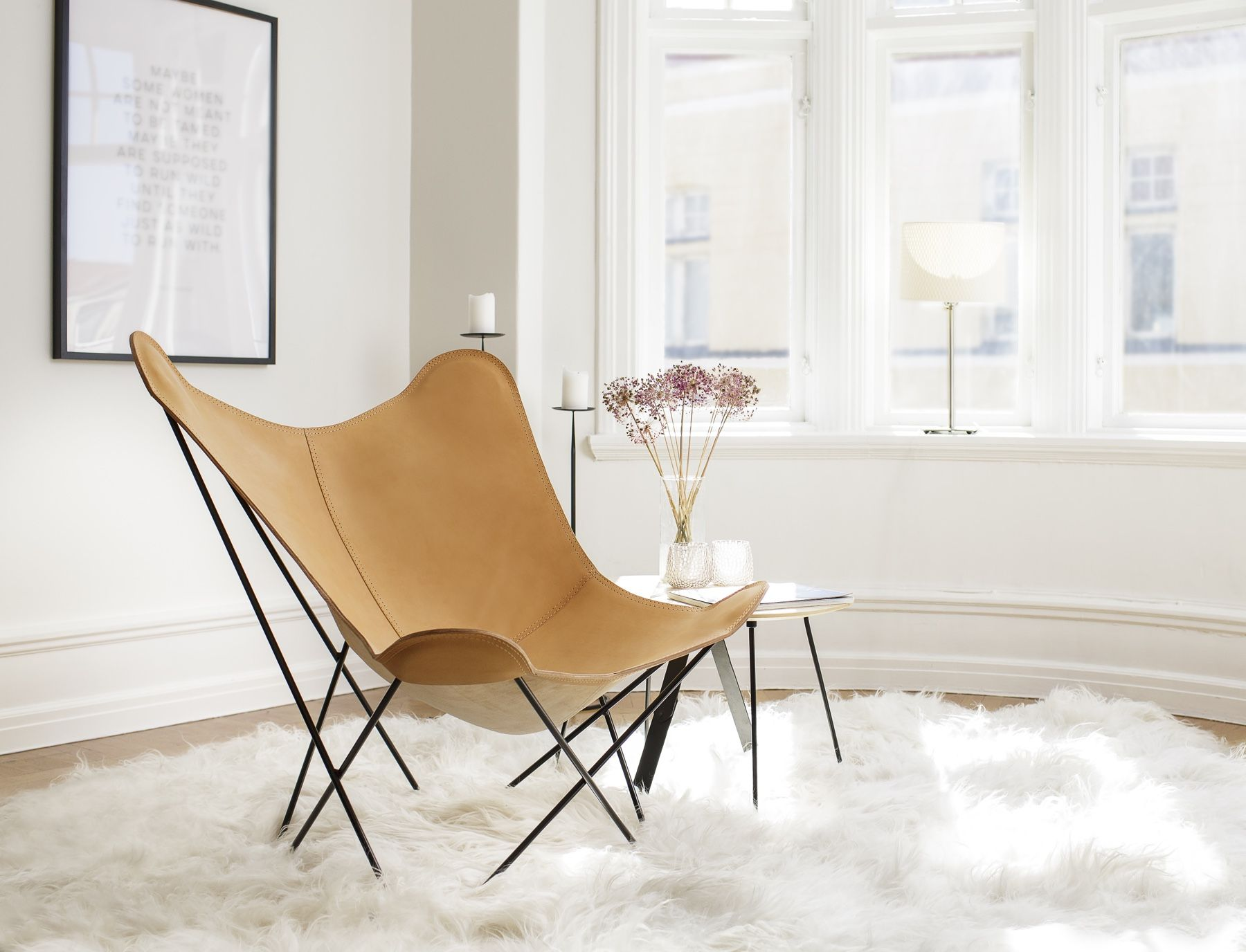 Cuero Design Leather Butterfly Chair