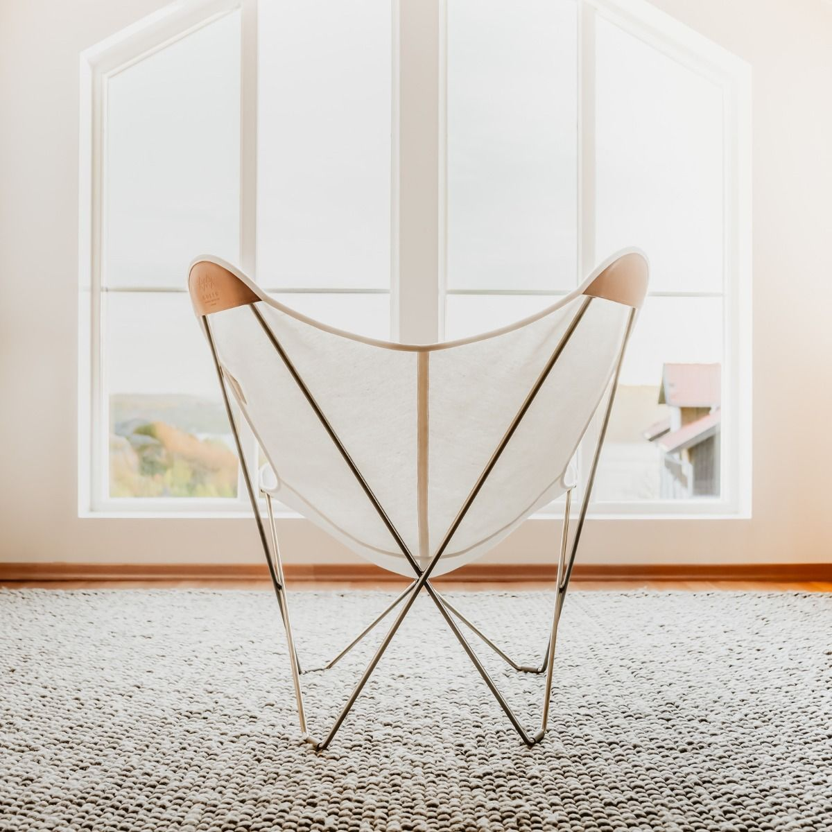 Cuero Design Canvas Butterfly Chair - Canvase Mariposa